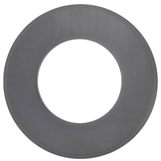BAUPROFI Wandrosette f/ür Pelletofen in der Farbe Schwarz /Ø 80 mm zur Abdeckung des Kaminanschlusses