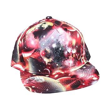 Flores hip-hop gorra de béisbol al aire libre soporte de gorra (rojo): Amazon.es: Deportes y aire libre