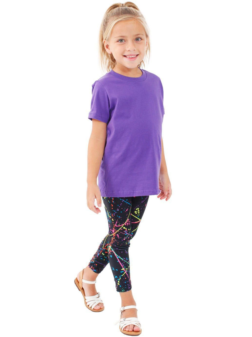 American Apparel Toddlers Fine Jersey Short-Sleeve T-Shirt (2105) -PURPLE -4T