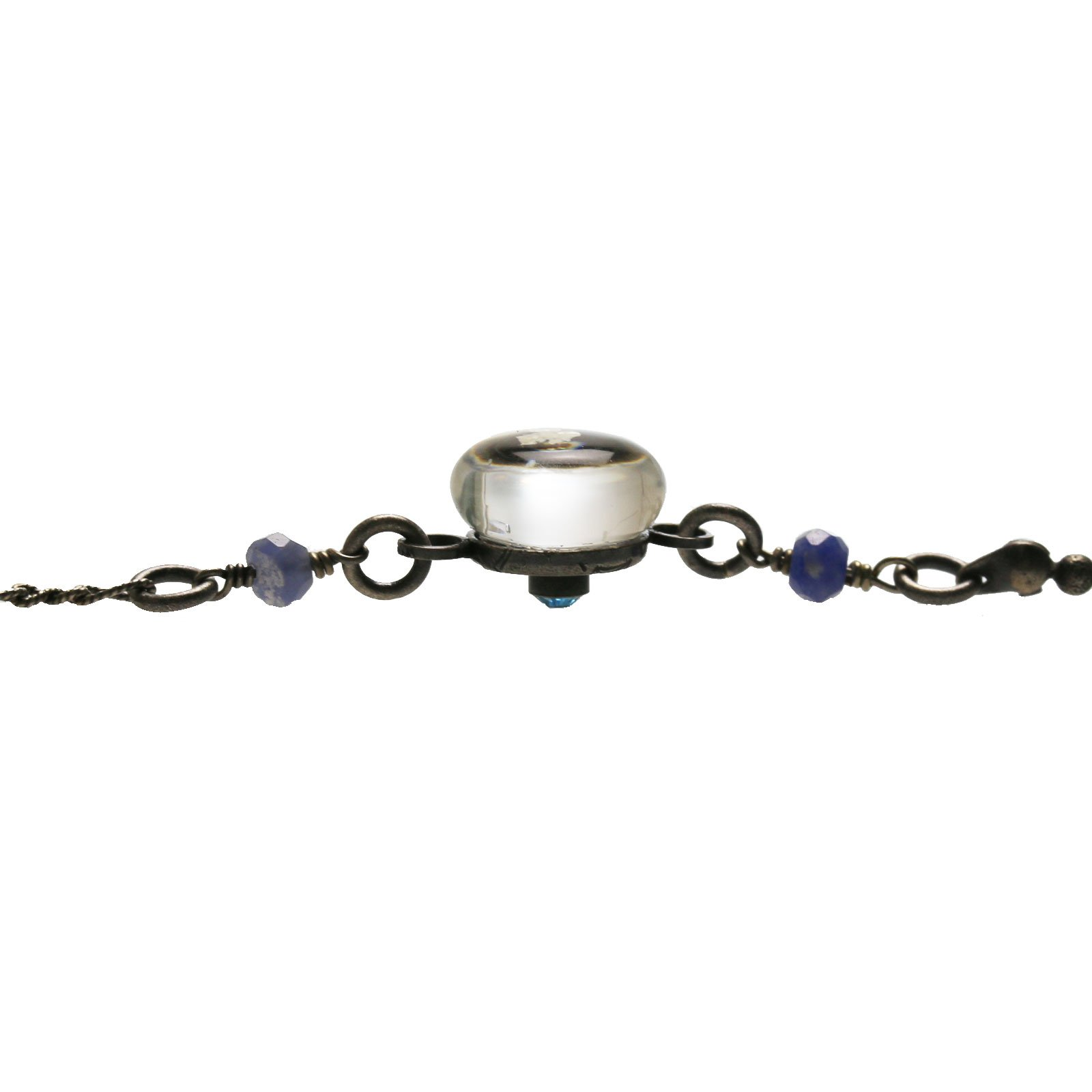 Tamarusan Eyeglasses Chain Eyeglass Chord Musical Note Aquamarine Handmade