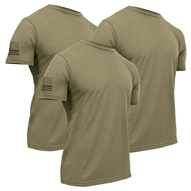 a645cd7916b5 Amazon.com: 3-Pack of Rothco Tactical Athletic Fit T-Shirt w/US Flag ...
