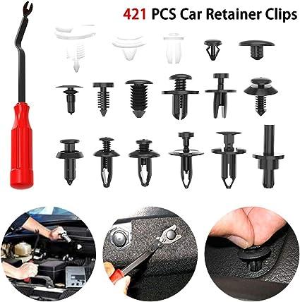Clip de rivet 100 pi/èces porte de voiture universel pare-chocs rivets vis de clip pince support retenue clips