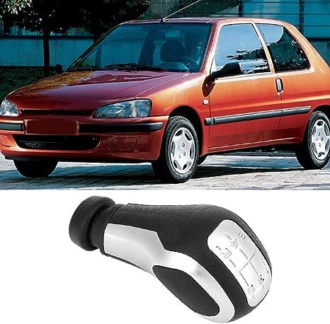 Suuonee Schaltknauf Car Modification 5 Gang Schaltknauf Kopf Für 106 206 206cc 207 307 407 Auto