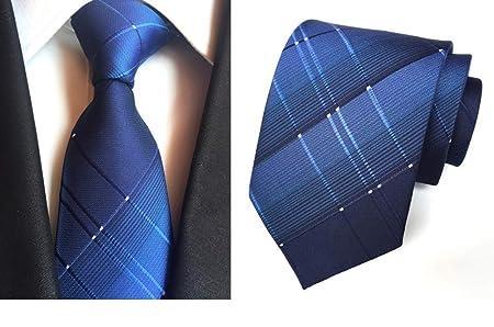 VGYUAS Corbata Corbata De Tela Escocesa con Lazo para Hombres ...