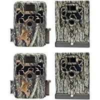 Browning Trail Cameras Dark Ops Elite 10MP Game Camera, 2 Pack + Security Boxes