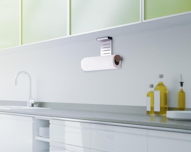 Küchenrollenhalter \'K!TCHENROLL\' Edelstahl Papierrollenhalter ...