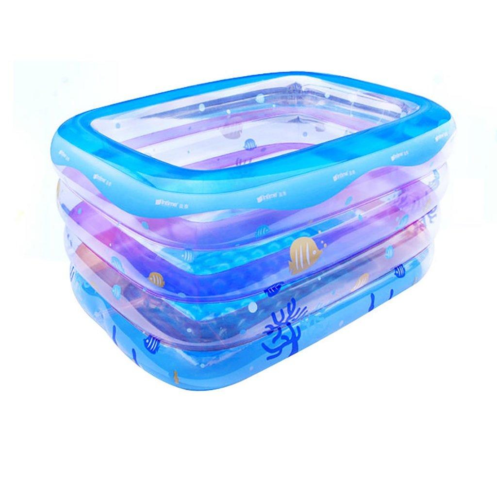 GJ@ Faltbare Aufblasbare Dicke Warme Erwachsene Badewanne, Kinder Aufblasbare Pool Badewanne, Transparent ++ (Farbe   Ölau)