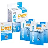 DAZZ Window and Glass Cleaner Refill Pack (Makes 4 Bottles) Natural Cleaning Tablets - Streak Free, Eco Friendly, Non Toxic -