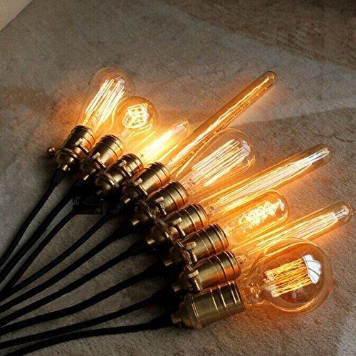 Bulb-A19 -Lot de 6 CMYK Edison Tungsten Quad boucle filament antique vintage E27 Ampoule A19 Drop lumi/ère