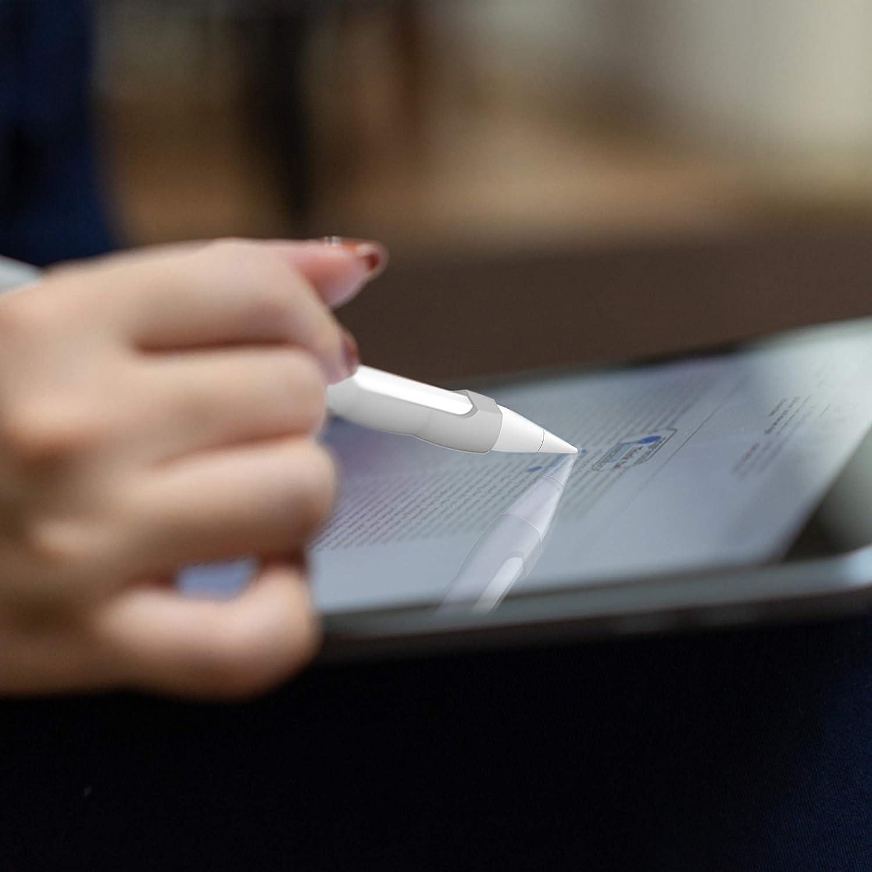 BELK Funda Apple Pencil 2./ª generaci/ón iPad Pro 12.9 2018 y iPad Pro 11 2018 Funda Ultra Delgada Protectora Antideslizante para l/ápiz de Silicona para Apple Pencil 2/ª Generaci/ón,Rojo