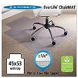 ES Robbins 120123 45 x 53 Lip Chair Mat, Task Series AnchorBar for Carpet up to 1/4''