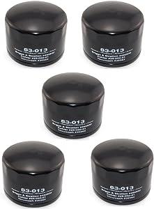 Oregon (5) 83-013 Oil Filters Compatible with Briggs & Stratton 492932, Kohler 25-050-01, Tecumseh 36563