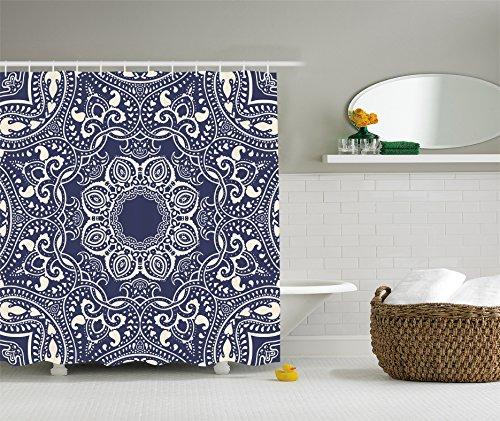 Ambesonne Circular Bohemian Polyester Bathroom