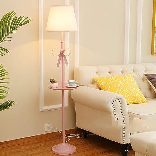 Lámpara de pie rosa 160 cm estilo nórdico princesa de hierro forjado luz de pie arco creativo alta lámpara de mesa, hogar, sala, comedor, habitación infantil, dormitorio, estudio, bar, restaurante: Amazon.es: Hogar