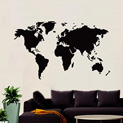 Buy wallmantra world map wall sticker for officeself adhesive vinyl wallmantra world map wall sticker for officeself adhesive vinyl wall decaldo it gumiabroncs Images