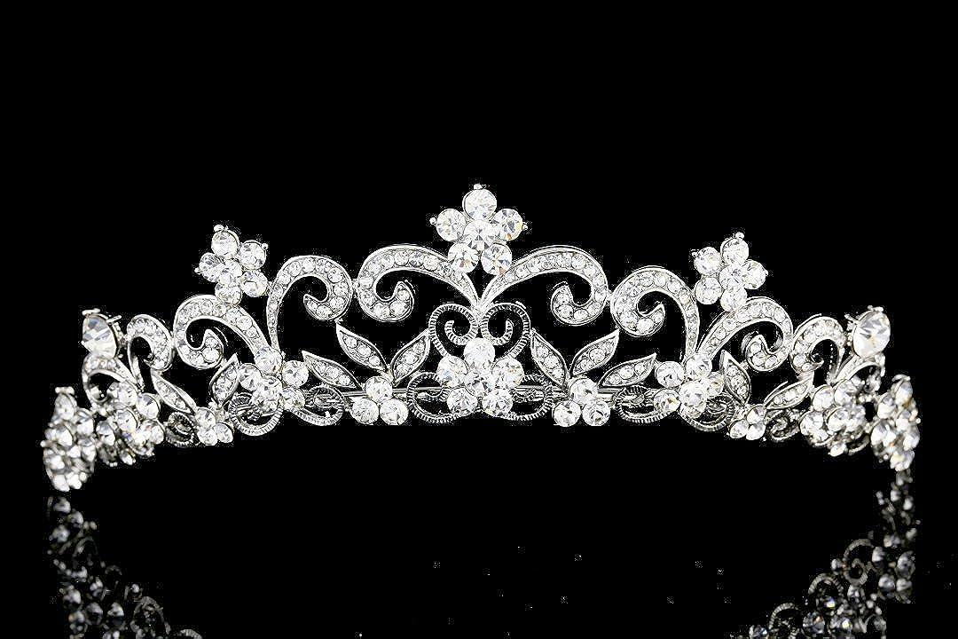 Venus Bijoux Femme mariée Fleur Strass Cristal Mariage/Diadème Couronne Venus Jewelry SAMKY-T976