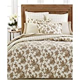 Martha Stewart Collection100% Cotton Flannel SKETCHED ROSES Comforter Cover/Duvet: KING