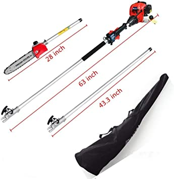 Pole Saw Chainsaw 42.7CC 2-Cycle - Lightweight
