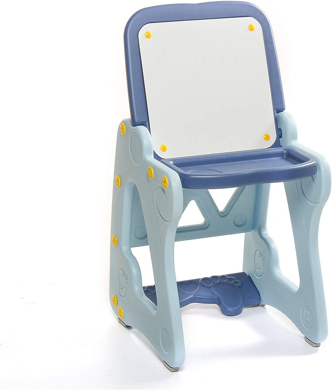 Silla de escritorio de la escuela de la tabla 2-en-1 tablero de dibujo infantil Escritorio con las Tablas Silla plegable Graffiti Art escritorio plegable de Kid tablero de escritura del dibujo caballe