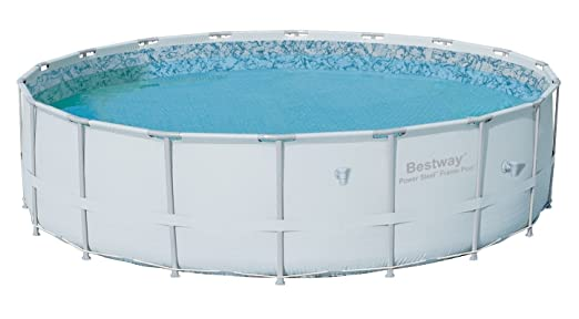This Circular Above Ground Pool Is The Perfect Size For Backyard Use And Features Reinforced Rope Wraps Around Bottom Of Liner In Order To Ensure