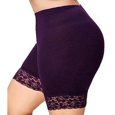 4 stk Damen Unterhosen Boxer Shorts Sicherheits Hose Baumwolle Unterwäsche