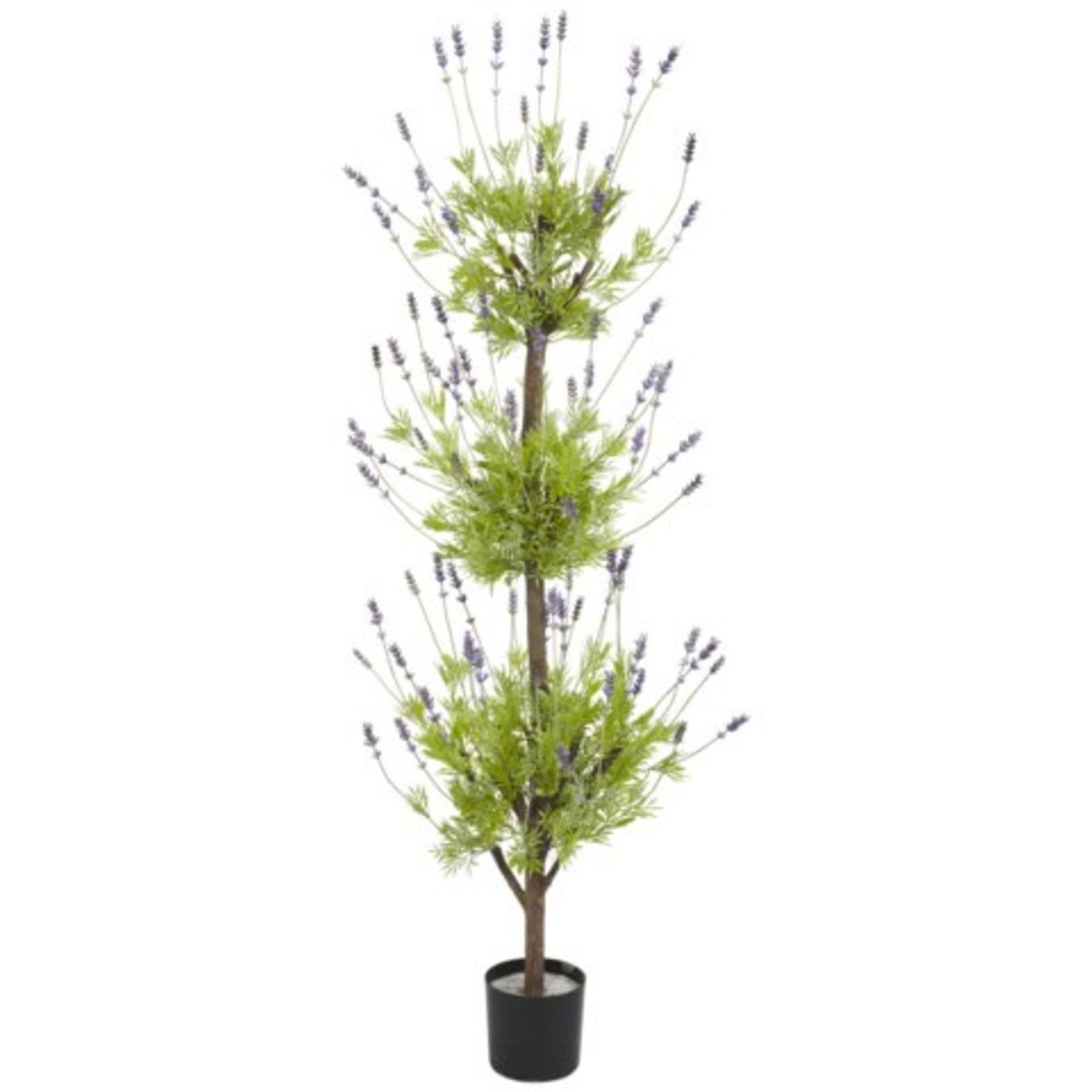 Decorative Natural Looking Artificial Potted 4' Lavender Topiary Silk Tree Plant by SPHTOEO