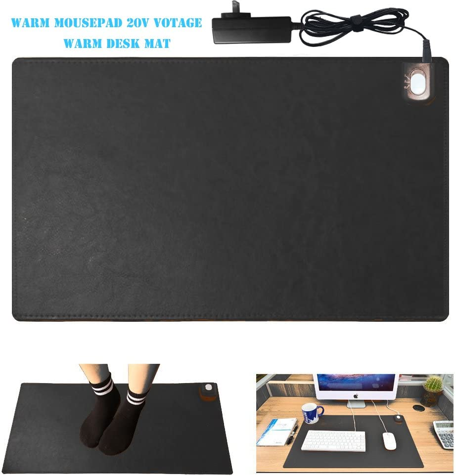Warm Desk Pad,kupx 20v Safe Voltage Automatic Control Warm Official Big Mouse Pad Game Mouse Pad Extended Edition Pu Gaming Mouse Mat Functional,foot Warmer Pad Warm Desk Pad 23.6