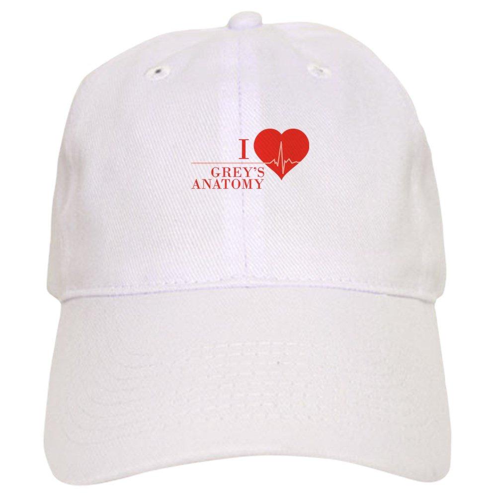 Amazon Cafepress I Love Greys Anatomy Baseball Cap With