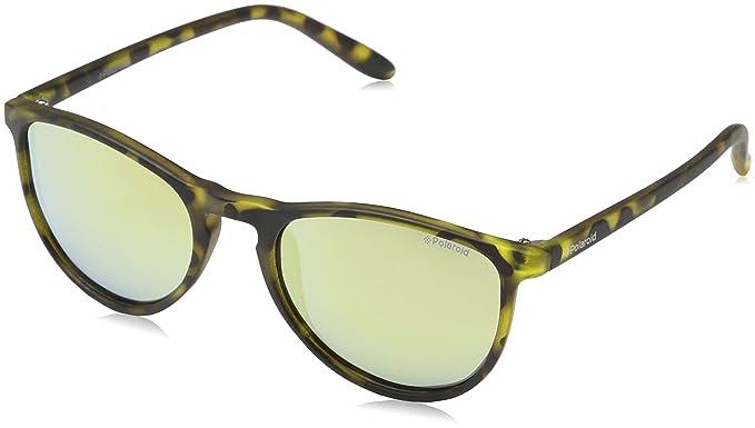 Polaroid PLD 8016/N LM SLG, Gafas de Sol Unisex Niños, Amarillo (Havana Yellow/Grey Goldmir Pz), 48