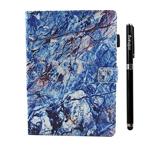 inShang iPad iPad Pro 10.5 Fundas soporte y carcasa para iPad Pro 10.5 inch ((2017 Release) , smart cover PU Funda con Patrón de Diamante + clase alta 2 in 1 inShang marca negocio Stylus pluma zebra blue