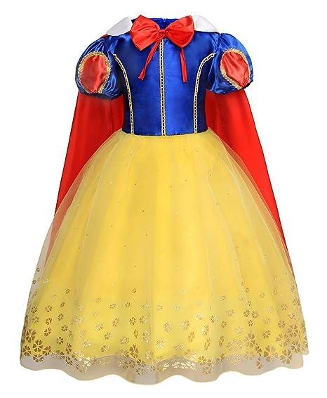 Jurebecia Disfraz De Blancanieves Princesa Blancanieves Para Niña Vestidos