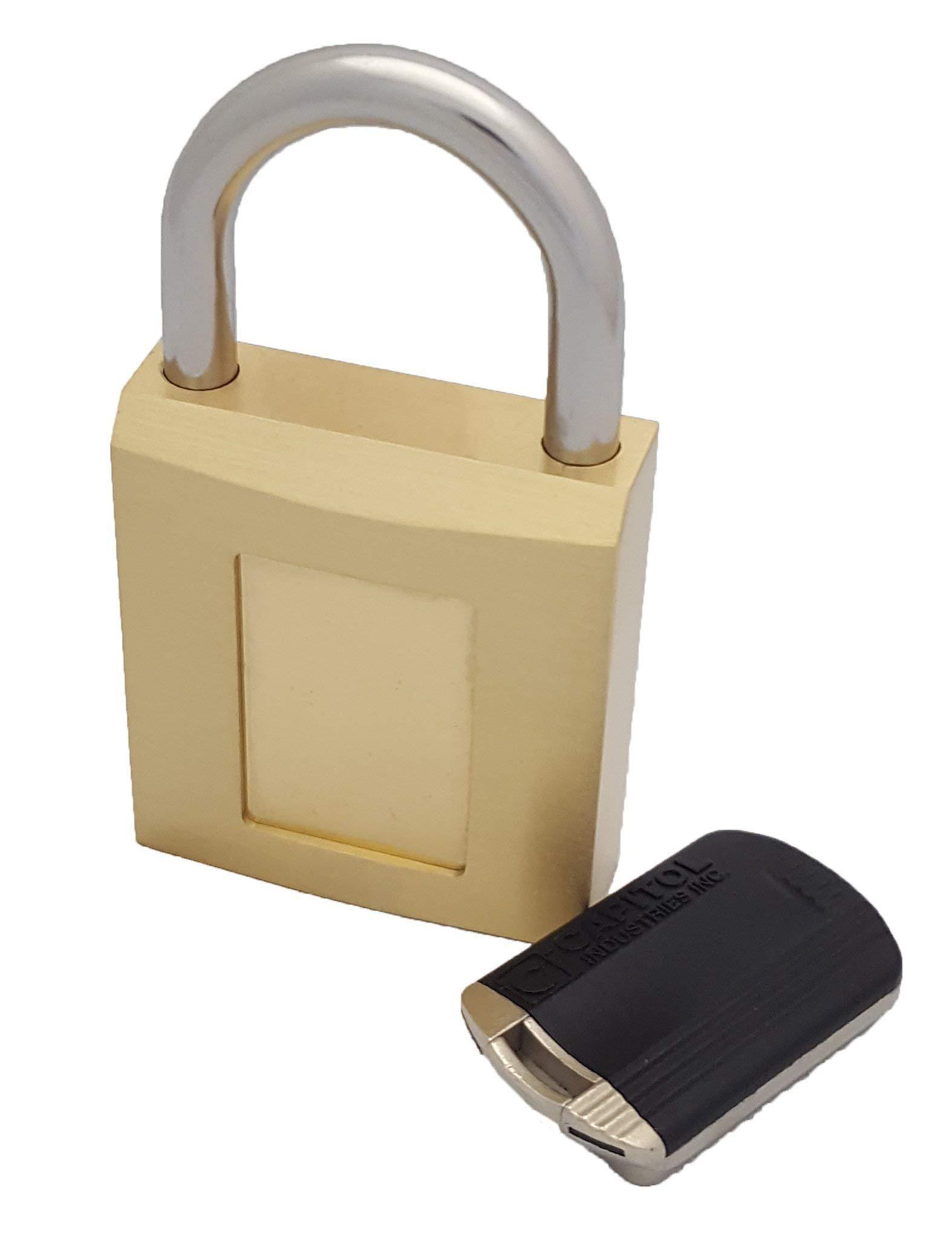 Magnetic Padlock in Heavyduty Brass, Weatherproof, Vandal-Proof, Secure Lock