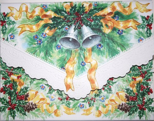 Carol Wilson Fine Arts Christmas Bells Blank 10 Card Set Portfolio