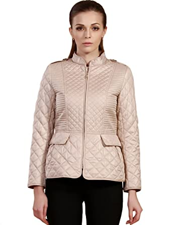 Camii Mia Women's Luxury Short Lightweight Quilted Jacket Coat (X ...