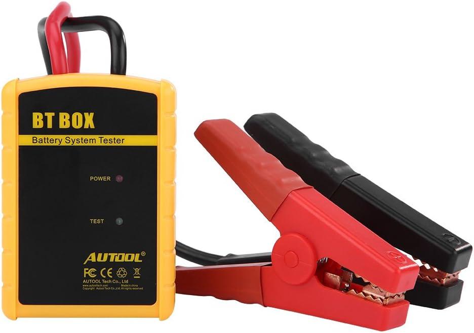 Batteriesystemtester Autobatterietester Analyzer Autobatterietester 12V BT BOX Autodiagnose-Batteriesystemtester Autoladeanalysator f/ür iOS//Android