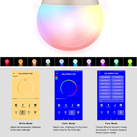 Wifi La bombilla LED inteligente Control de voz de Alexa Temperatura de color Led Bombilla Wifi para Amazon Alexa Asistente de Google: Amazon.es: ...