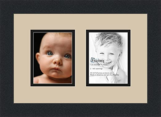 amazon com arttoframes collage photo frame double mat with 2 4x5 openings and satin black frame arttoframes collage photo frame double mat with 2 4x5 openings and satin black frame