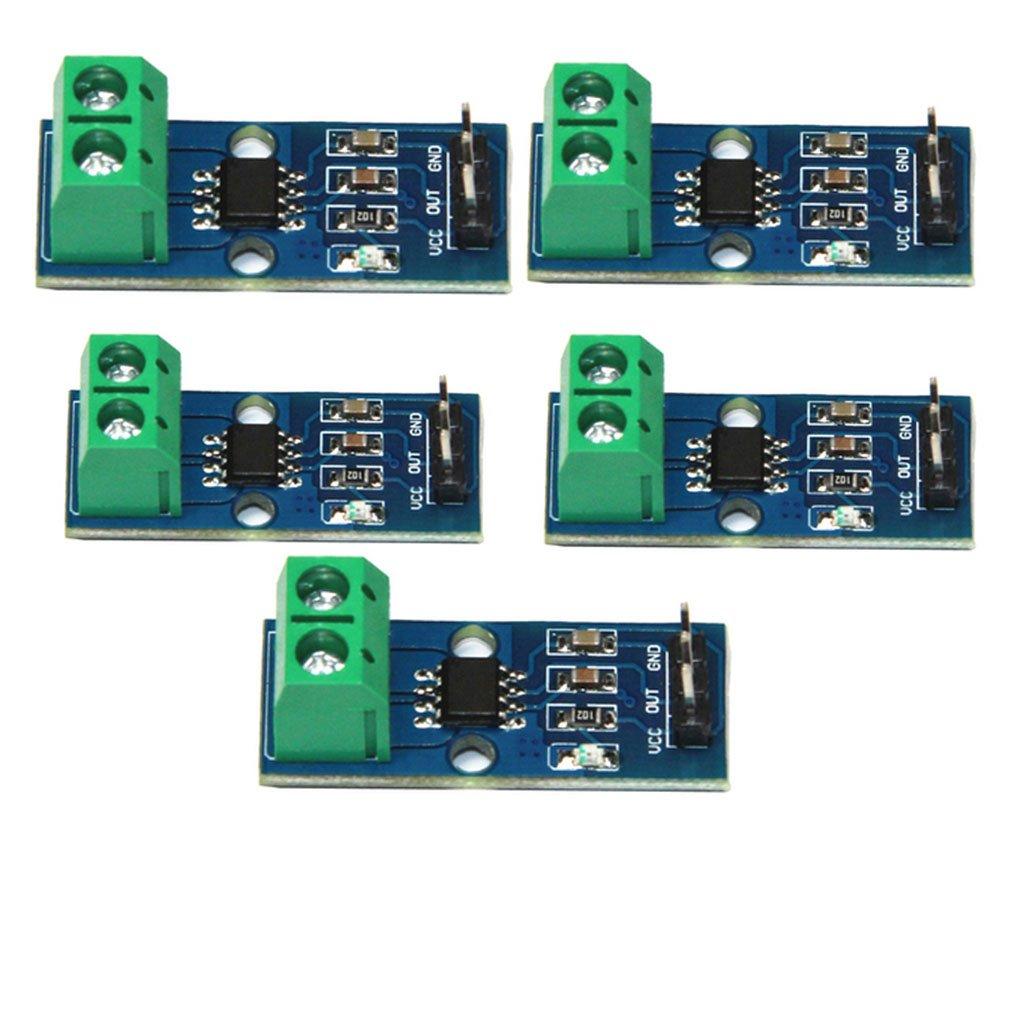 Baoblaze Pack of 5Pcs 30A Range Current Sensor Module ACS712 Module Board by Baoblaze