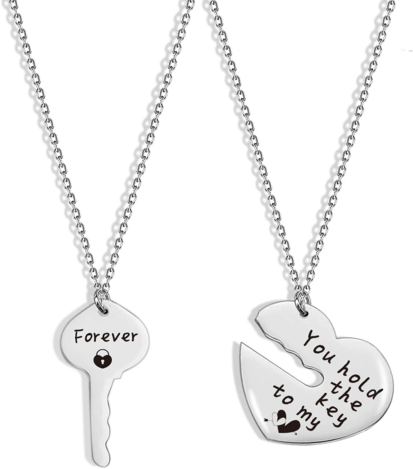 SIDIMELO Inspirational Gifts Couple Necklace Birthday Gifts for Boyfriend Girlfriend Gift for Valentine's Day Birthday Gifts Couple Gifts Husband Wife Necklace