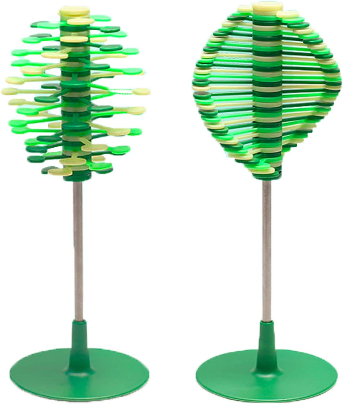 Plastic Office Home Toys Helicone Stress Relief Toy - Leaf-Shaped Display Stand Holder Decoration for Desk Top - Manipulable Playable Display Art Accessory Office Fidget Gadget Gift for Christmas,Fath