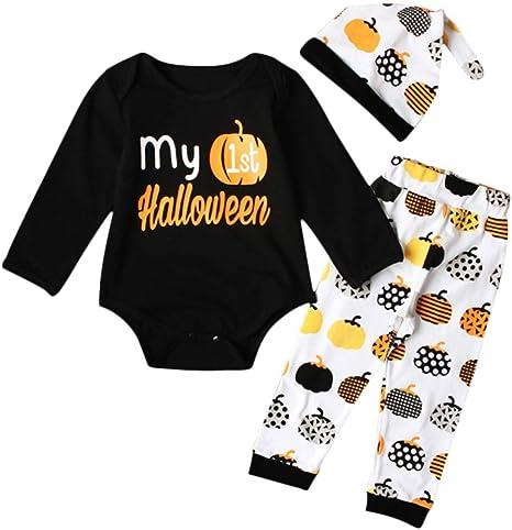 Miyanuby Ropa de Halloween para Bebé Niña Niño My First Halloween ...