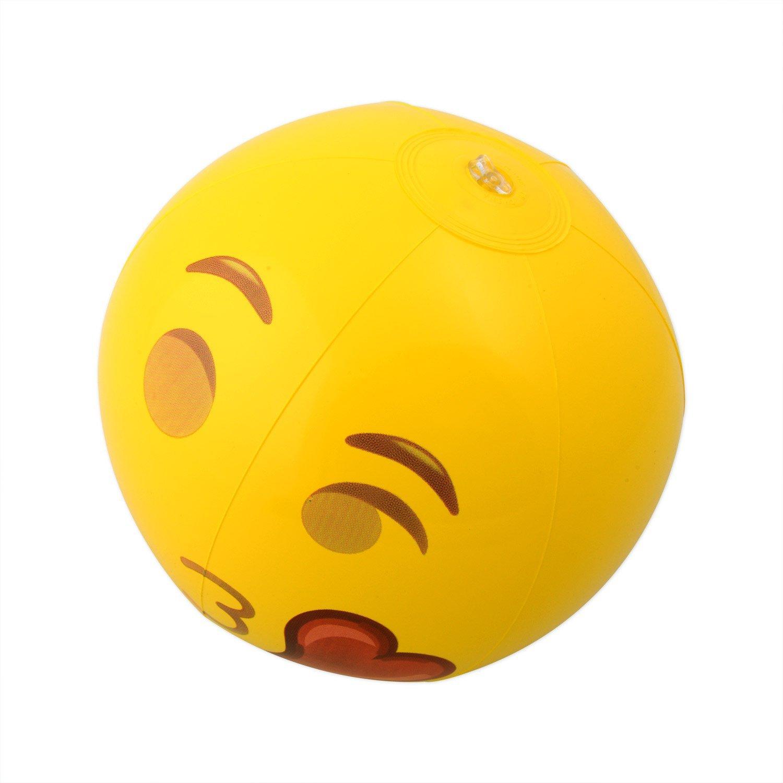Kangaroo Emoji Universe: 12'' Emoji Inflatable Beach Balls, 12-Pack by Kangaroo (Image #8)