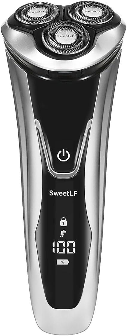 SweetLF 3D Afeitadora Eléctrica de Rápido Recargable IPX7 ...