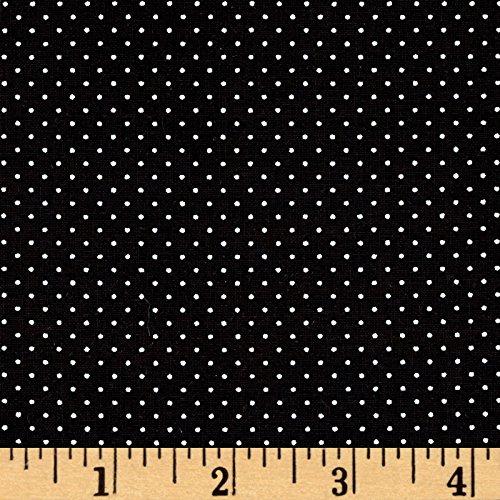 Mini Dots Fabric (Sorbet Essentials Mini Dot Black Fabric By The Yard)