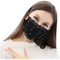 Fashion Women Lace Reusuable Cloth Sexy Cute Dust Face Bandanas, Washable and Breathable (Style A-1pcs)