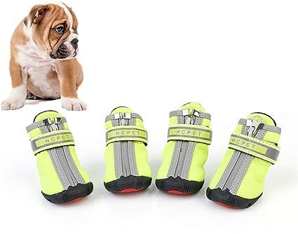 Rysmliuhan Shop Hundeschuhe Wasserdicht Pfotenschutz Hund Hitze Hundeschuhe Für Kleine Hunde Hundeschuhe Hundestiefel Für Verletzte Pfoten Wasserdicht Green Xl 5 Küche Haushalt