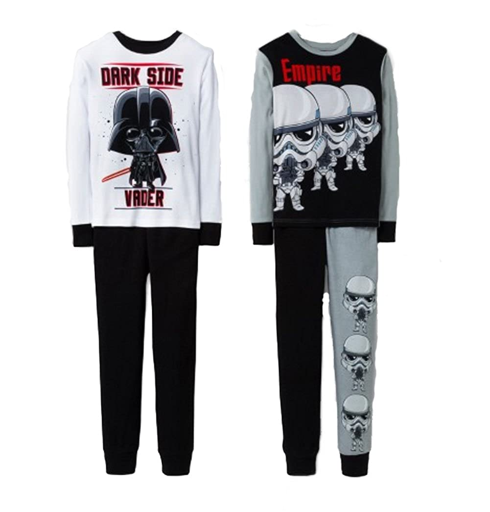 AME Star Wars Darth Vader and Stormtroopers 4 Piece Snug Fit Pants Pajama Set
