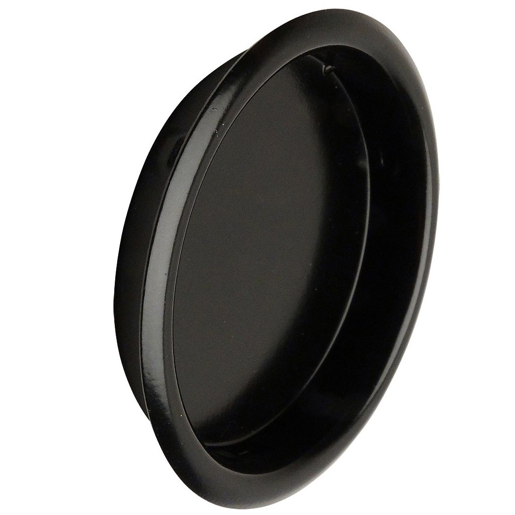 Designers Impressions Matte Black 2-1/8'' Pocket Door Finger Cup Pull : 47668