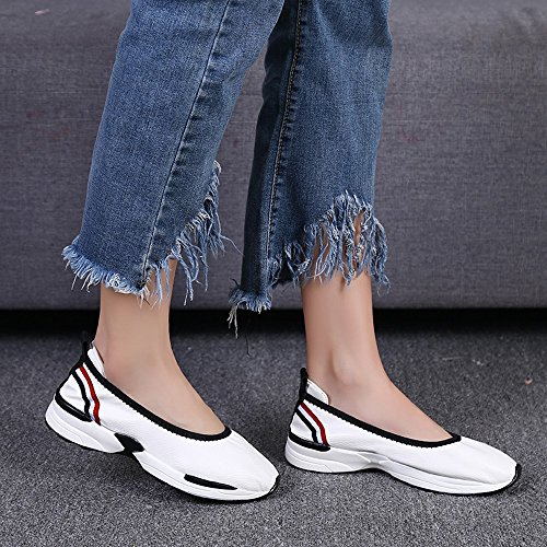 Sneakers Shoes Fashion Sale Casual Loafers Slip shoes White Lazy Women Breathable For Women,Farjing Flats Clearance Sneakers 4xFU5qw