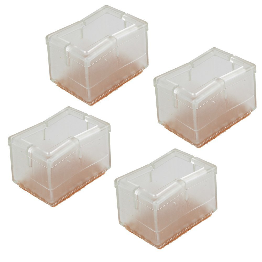 Wish you have a nice day Chair Leg Feet Wood Floor Protectors Set, Felt Furniture Pads Caps Covers, Square 1-1/8 inch to 1-3/8 inch, 16 Pack (16, 3 to 3.5cm) by wish you have a nice day (Image #4)